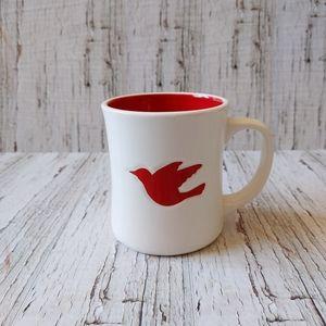 STARBUCKS | 2008 Christmas Red Dove Coffee Cup